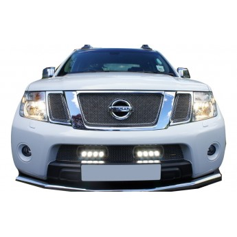 Lazer: Nissan Navara - Lower Grille with ST4 Lights - Black finish