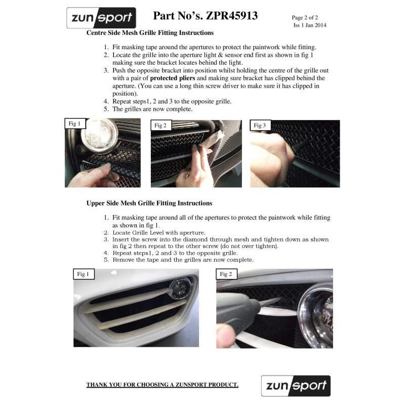 Porsche Cayman S 981 (Manual with Parking Sensors) - Complete Grille Set