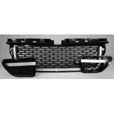 Range Rover Sport (L320) Black Grille with Silver Trim 3 Piece Set - Autobiogrophy look