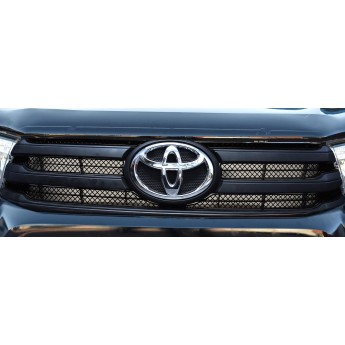 Toyota Hilux (AN120 / AN130) - Upper Grille Set - Black Finish