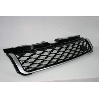 Range Rover Evoque Dynamic Java Black Gloss With Silver Trim Front Grille Upgrade