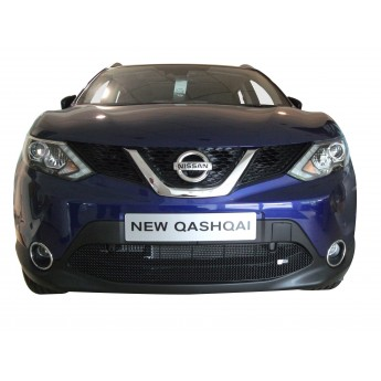 Nissan Qashqai (2.0 Diesel with Parking Sensors) - Lower Grille - Black finish