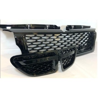 Range Rover Sport (L320) Black Grille with Black Trim 3 Piece Set - Autobiogrophy look