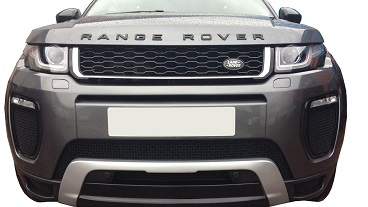 Check Out Our New 'Range Rover Evoque' Prestige Black Gloss Grille With A Silver Trim Front!
